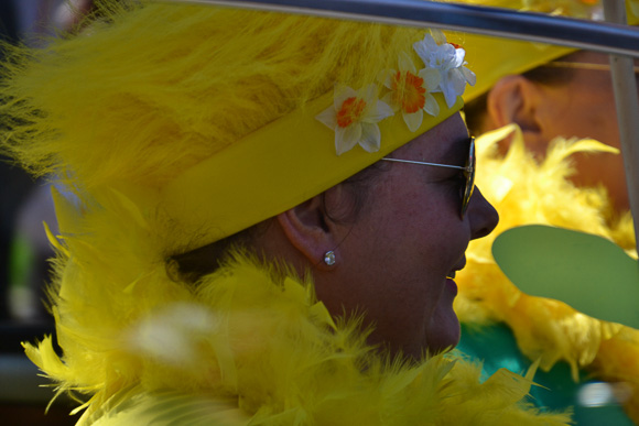 Festive Hats at Nantucket Daffodil Festival