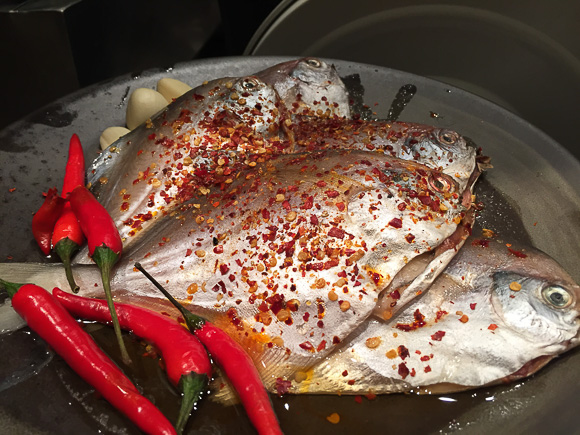 Fish with chilies