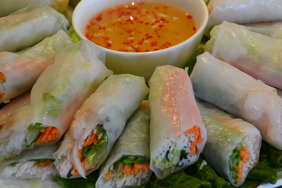 Spring rolls on board Viking Emerald