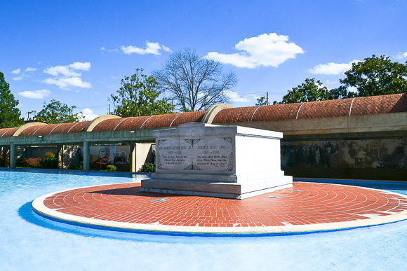 Burial site of Dr. Martin Luther King Jr. and Loretta Scott King