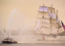Crowd in Awe of Tall Ships SailBoston