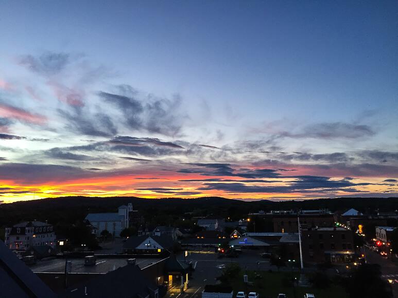 Sunset at 250 Main Rockland ME