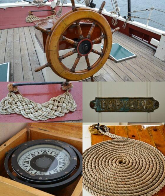 Maritime details on the JE Riggin schooner