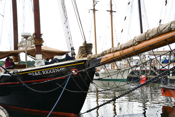 J&E Riggin docked in Rockland, Maine
