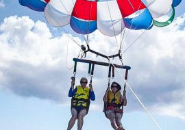 Into the Clouds-Parasailing Grand Cayman Style