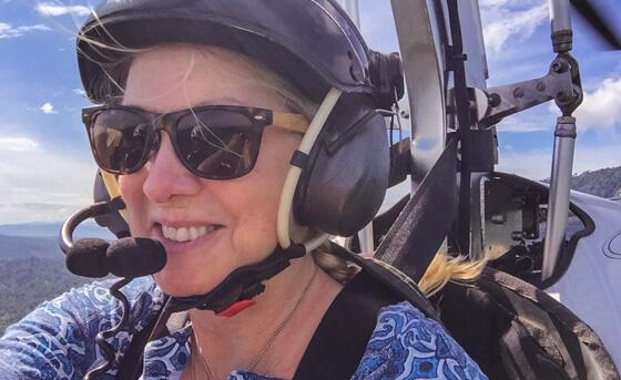 Alison Abbott gyrocopter Costa Rica