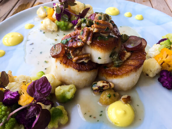 Nantucket scallops at Greydon House