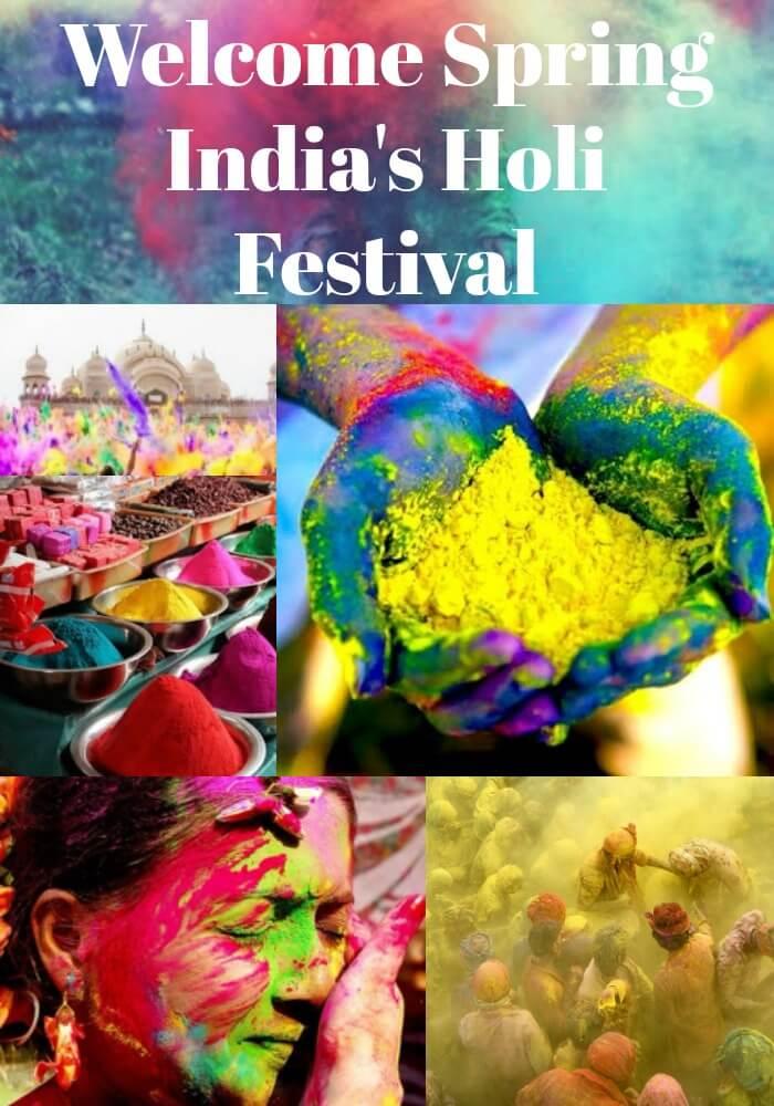 India Holi Festival Celebrating Spring