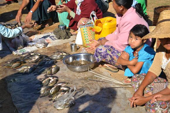 Market in Yangon Myanmar