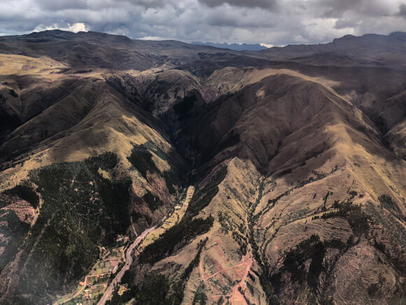 Flying into Cusco, Peru