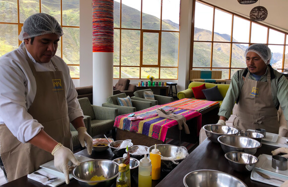 Cooking class in Haucahuasi