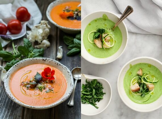 healthy chilled soups for summer