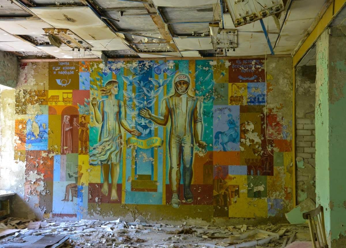 Mural in Chernobyl