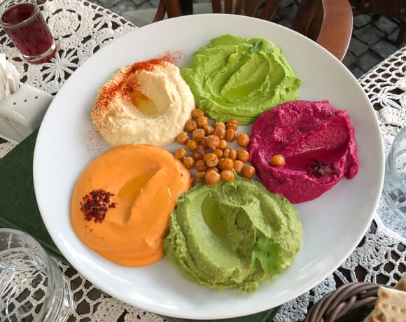 Ukraine hummus selection