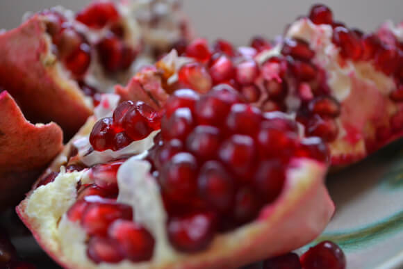 Pomegranate used for dying