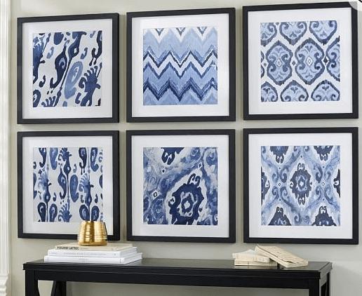Framed Indian Ikat Designs