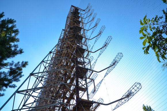 The Woodpecker radio tower in chernobyl
