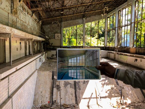 Azure pool and Chernobyl Tours Dark Tourism azure swimming pool