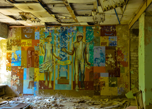 Chernobyl Tours Dark Tourism Painting Russian