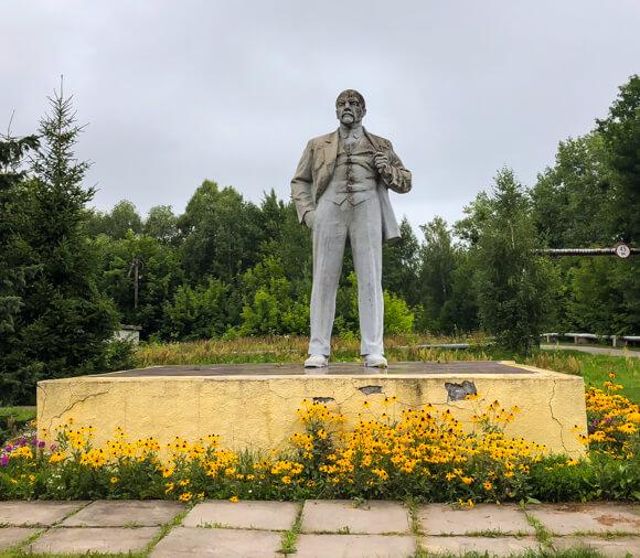 Lenin statue Chernobyl Ukraine