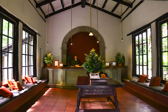 Lobby of Inkaterra Machu Picchu Pueblo Hotel