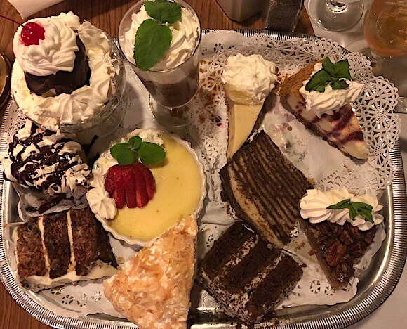 Dessert tray from Owen's restaurant in the Outer Banks