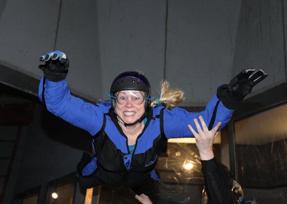 Alison Abbott solo flight at SkyVenture