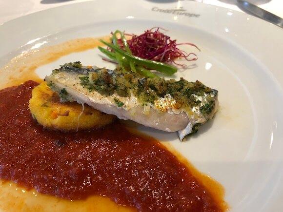 mackerel with butter crumbs