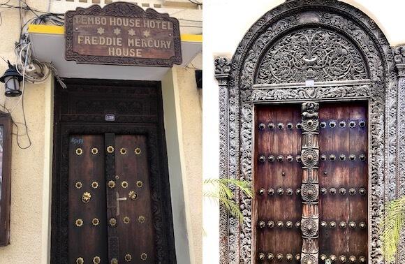 carved wooden doors in Zanzibar