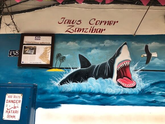 painting of shark in Jaw's Corner