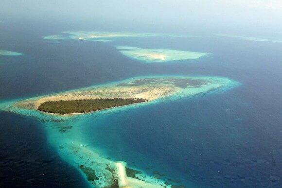 aerial view of Zanzibar