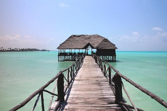 walkway to Zanzibars beaches