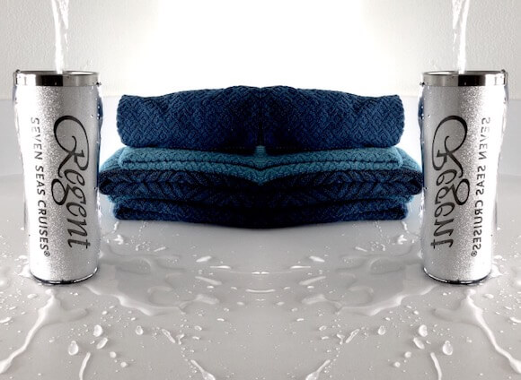 water and towels