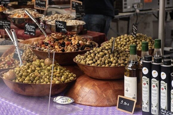 olives in Provence marketplace