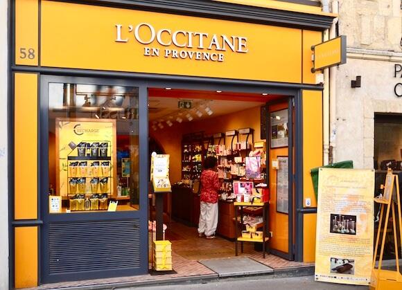 storefront of l'occitane