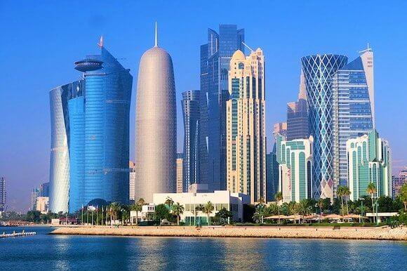 Doha layover skyline