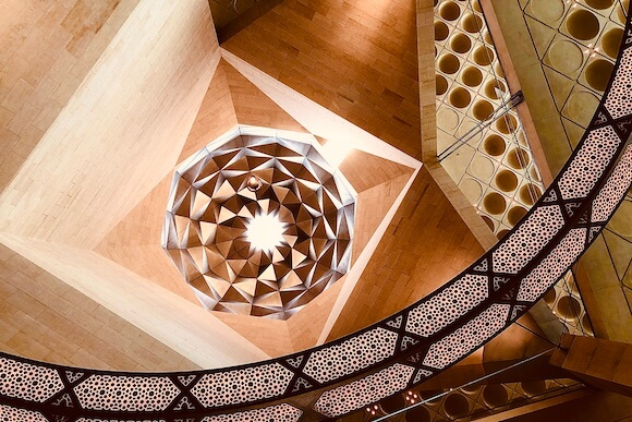 interior ceiling lights museum of Islamic art