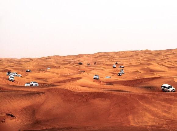 cars on dunes