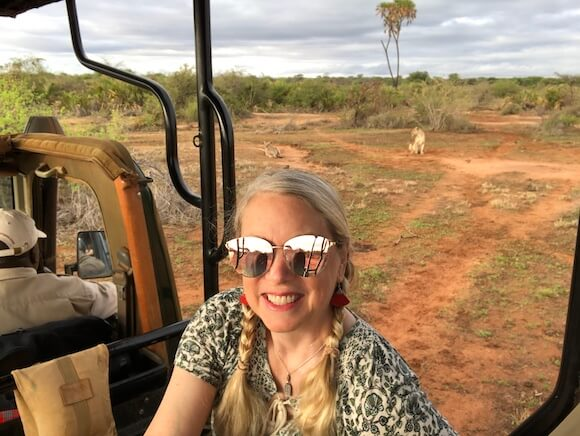 woman on safari