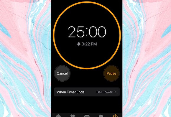 twenty-five minute timer