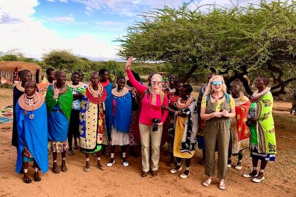 women at Samburu village