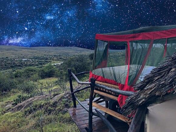 Loisaba star bed at night