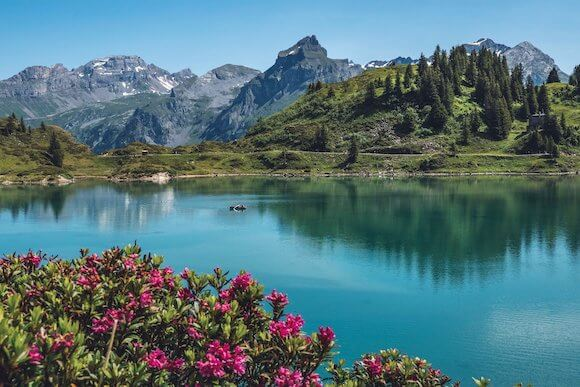 hiking Switzerland lake