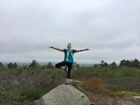 Woman hike Boston Blue Hills