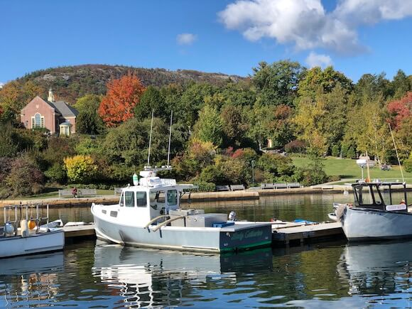 harbor with boats midcoast Maine
