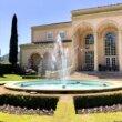 Ferrari Carano Estate winery and fountain