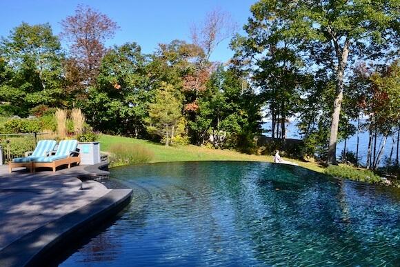 Infinity pool overlooking Penobscot Bay.