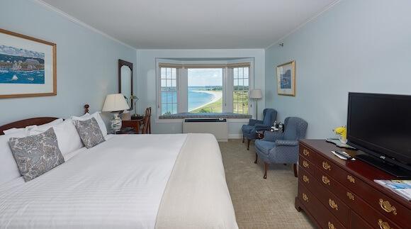 guest room Black Point Inn overlooking bay