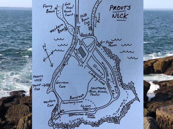 map prouts neck and cliff walk